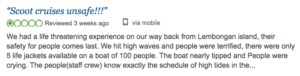 Scoot fast cruise trip advisor review