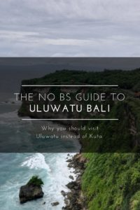 Uluwatu Bali guide
