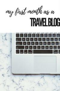Beginning a travel blog