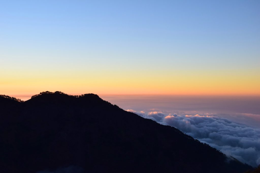 mt rinjani sunset
