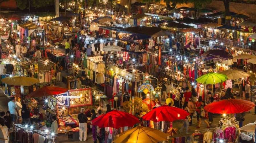 Chiang Mai NIght Bazaar, borrowed from Travel Wire Asia